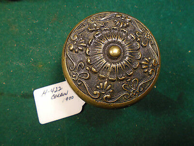 Circa 1900 4 Fold Symmetry Corbin Parthenon H-422 Door Knob - Brass  (6799-D)