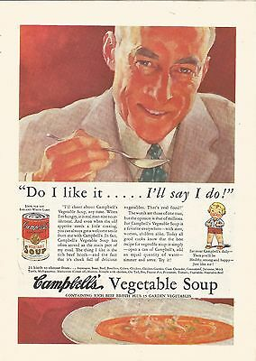 1935 Vintage Campbells Vegetable Soup Ad Do I Like It