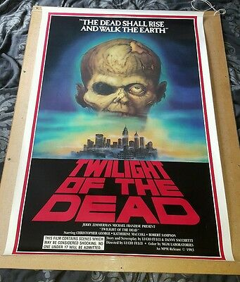 Twilight of the Dead Gates of hell Fulci zombie US One Sheet Poster City Horror
