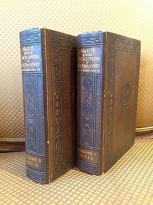 Masonic 2 vol (complete) 1929 Mackey's revised Encyclopedia of Freemasonry Clegg