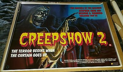 Creepshow 2 british UK quad cinema movie poster Savini Romero horror comic story
