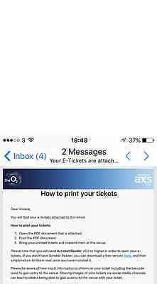 Red Hot Chili Peppers 2 tickets 5th December O2 arena -