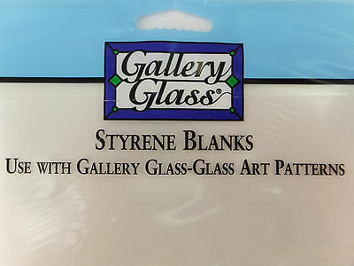 Gallery Glass Stained Glass Styrene Blanks 2 Pk 8x10