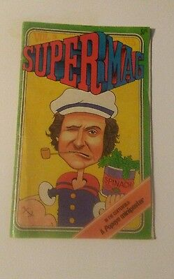 Vintage SuperMag Magazine with Robin Williams POPEYE Cover Volume 5 No. 5