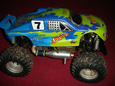 nitro rc car 4x4 monster truck +many new spares