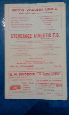 Stevenage Athletic v Bletchley, 1971/2, Southern League
