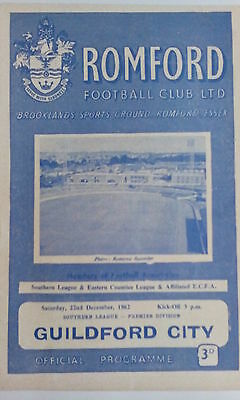 Romford v Guildford City, 1962/3, Southern League