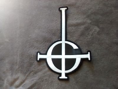 Ghost Logo,sew On White Embroidered Large Back Patch