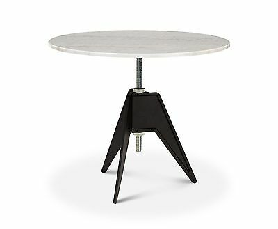 Tom Dixon Screw Cafe Table, White Marble Top 900mm