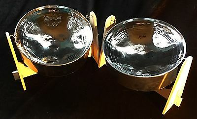 Mini Double Steel Pan Drum - SALE!!! - Lowest Price!!! Chrome Finish. Great deal