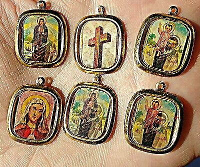 Vintage Religious Flicker Hologram Metal Charms