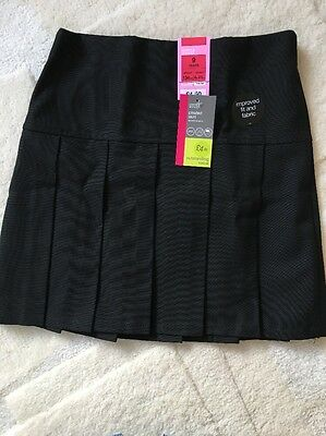 Marks And Spencer Girls Pleated Skirt Size 9 Years Old