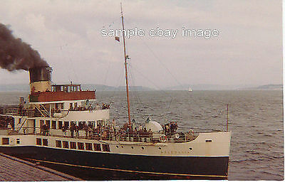 Clyde Steamer 'Caledonia' at Dunoon 1969
