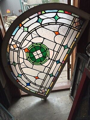 Sg 970 Antique Arched Stainglass Zinger Window
