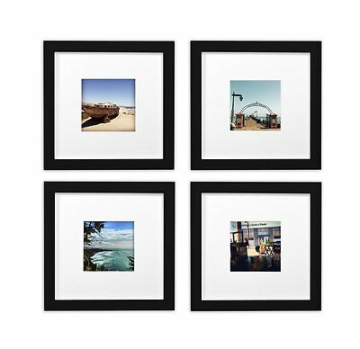SMARTPHONE FRAMES COLLECTION,SET of 4, 6x6-inch Square Wood Frames ...