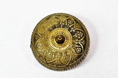 Antique Victorian Brass Mechanical Door Bell