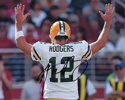 Aaron Rodgers - Green Bay Packers Quarterback - NFL - Signed Autograph REPRINT