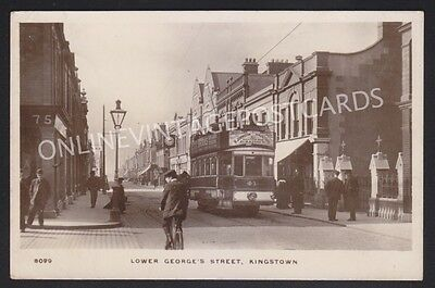 Co Dublin Lower George'S Street Kingstown Super Tram Close Up Real Photo
