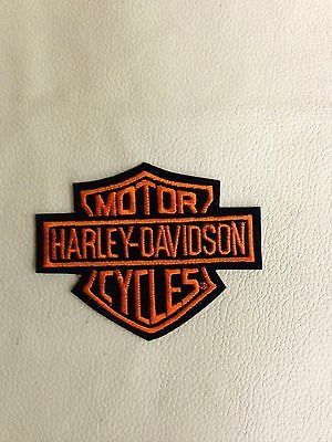 Harley Davidson Embroidered Patch - Vintage Old Stock   HD Bar and Shield