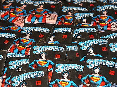 Superman The Movie Trading Card Wax 80s Sealed Packets 1978