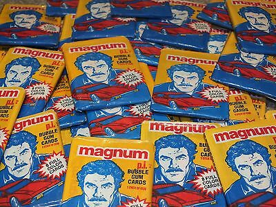 Magnum PI TV Series Trading Card Wax 80s Sealed Packets 1981