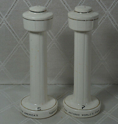 Vintage World's Fair Tower of Americas Salt And Pepper Shaker Set