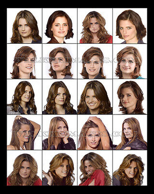 84 Castle Cast Photo Collage Stana Katic Kate Beckett