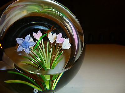 Whitefriars Caithness Glass Paperweight With Dragon Fly