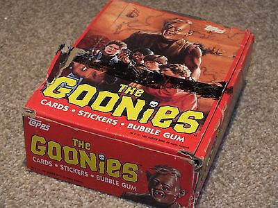 The Goonies Trading Card Wax 80s Complete Box Sealed Packets