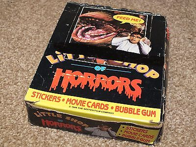 Little Shop of Horrors Trading Card Wax 80s Complete Box Sealed Packets
