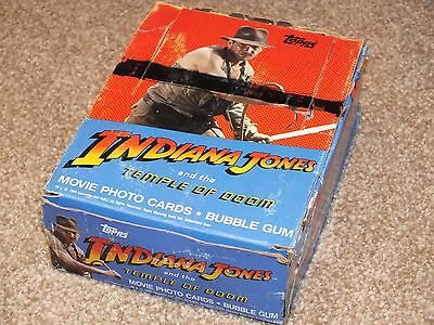 Indiana Jones Temple of Doom Trading Card Wax 80s Complete Box Sealed Packets