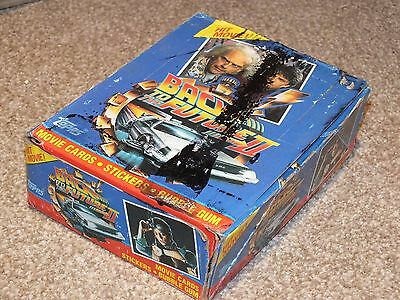 Back to the Future 2 Trading Card Wax 80s Complete Box Sealed Packets
