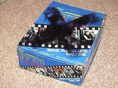 Star Wars Return of the Jedi Blue Trading Card Wax Complete Box Sealed Packets