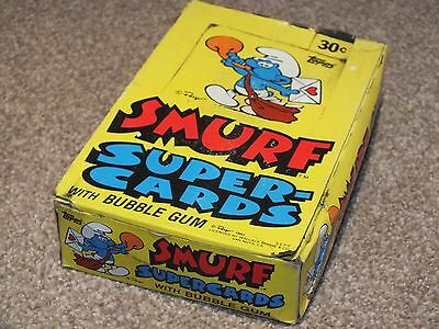 Smurf Supercards Trading Card Wax Complete Box Sealed Packets