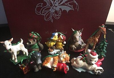 Danbury Mint Baby Animals Ornament Collection Set of 8 With Slotted Box.