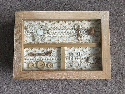 Vintage Style Wooden Sewing Box