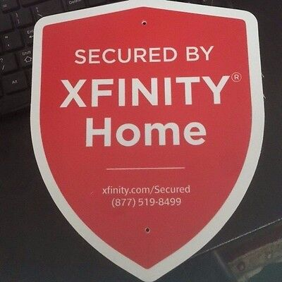 Xfinity Home sign for lawn as well as  double sided window sticker