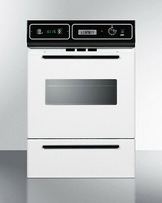 Summit Gas Wall Oven, White, WTM72712KW