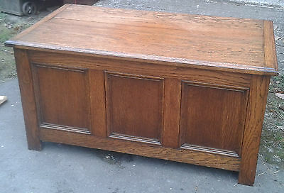 Antique Oak Chest / Blanket Box