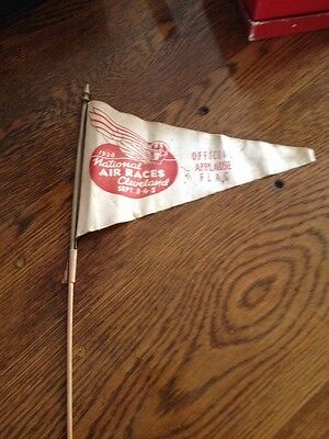 """1938 National Air Races- """"Offical Applause Flag"""" Cleveland Sept 3 4 5"""