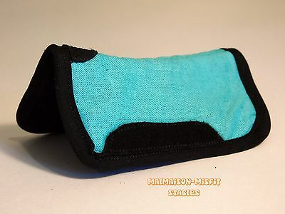 CM Breyer western contoured Saddle pad- Light Teal *Optional leather accents*
