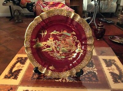 Exquisite Carlton Ware Rouge Royale Plate