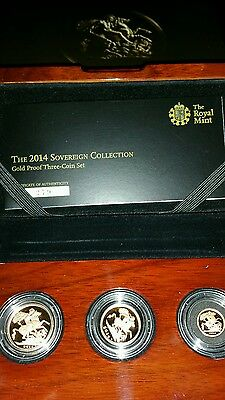 2014 Gold Proof Sovereign 3 Coin Set