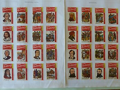 Brymay Redheads Matchbox Labels - FULL set of 48 Explorers 1968