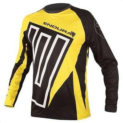 SHIRT ENDURA MT500 PRINT II L/S JERSEY color BLACK YELLOW L size