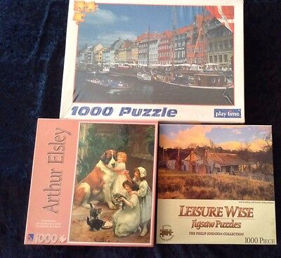 3 Unopened Jigsaw Puzzles (1000 Pieces)