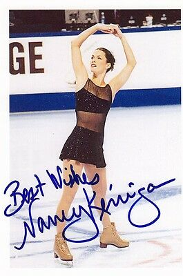Olympic Silver Medal Nancy Kerrigan SIGNED 4x6 PHOTO AUTOGRAPHED