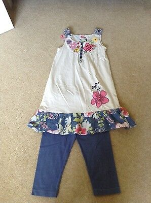 Girls Next Boutique Dress Style Top and Cropped Leggings Outfit Age 8