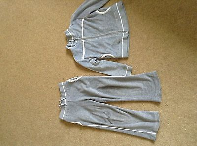 Girls Grey Velour Tracksuit - Joggers age 3-4 Next to Jacket Age 4-5