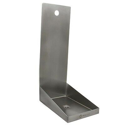 "Kegco SEWM-610-1 6"" Stainless Steel Drip Tray with Drain - 1 Shank Hole"